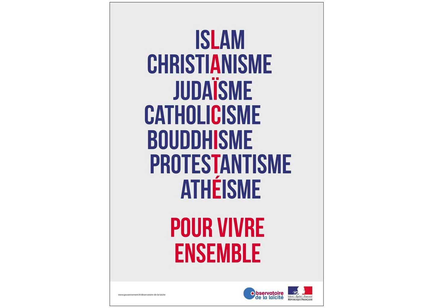 Islam, Christianisme, Judaïsme, Catholicisme, Bouddhisme, Protestantisme, Athéisme Pour Vivre Ensemble