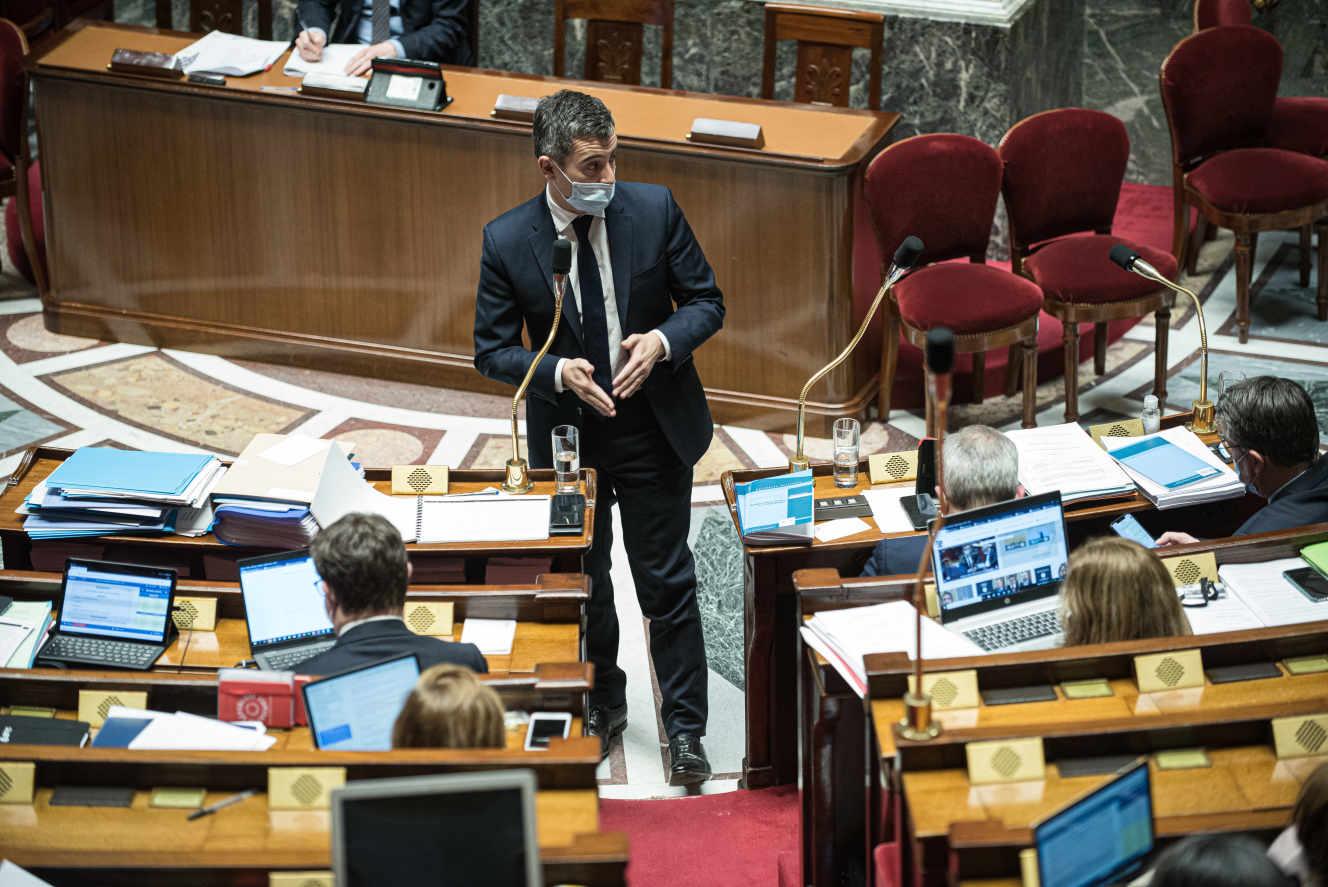 Gérald Darmanin à L'Assemblée Nationale